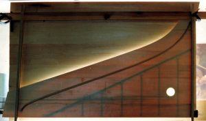 Clavecin d'après Kirkman: transparence de la table d'harmonie. Anne-Ian-Tucker
