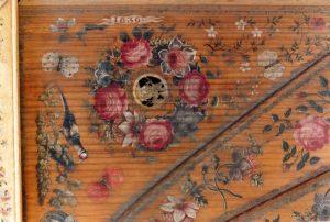 Ruckers-Hemsch 1636: détail de la table d'harmonie (original)