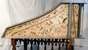 Clavecin d'après Ruckers 1635: table d'harmonie. Anne-Ian-Tucker