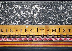 Clavecin d'après Ruckers 1635: détail du tour de clavier. Anne-Ian-Tucker